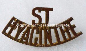 Canada. Le Regiment de Hyacinthe metal shoulder title. Circa.1922
