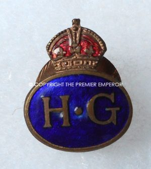 "British World War Two  H.G. ""Home Guard"" enamelled lapel badge.Circa.1939/45"