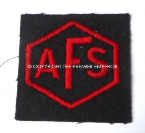 British World War Two A.F.S.(Auxiliary Fire Service) Sleeve insignia. Circa.1939/41