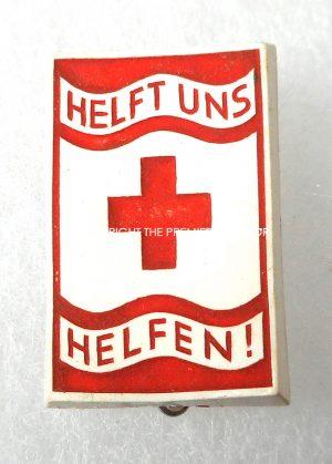 German DRK Red Cross helpers badge. Circa.1930's.