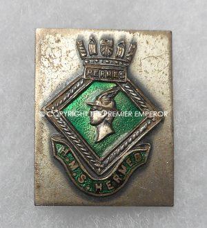 British Royal Navy H.M.S. Hermes insignia.