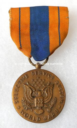 United States of America.Selective Service medal World War Two.