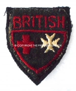 British Red Cross /Order of St.John uniform/ward dress cloth insignia. Circa.1939/45