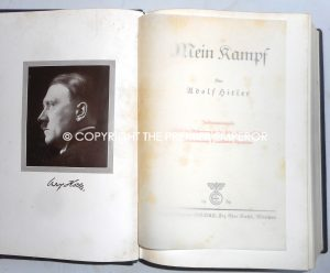 "German. Adolf Hitlers 50th Birthday Luxury Edition ""Mein Kampf""published 1939. Rare!"