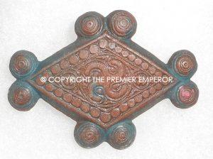 "German Tinnie/Day badge. ""Troja-Bronze plastic WHW Runic insignia. Circa.1930's/1940's."