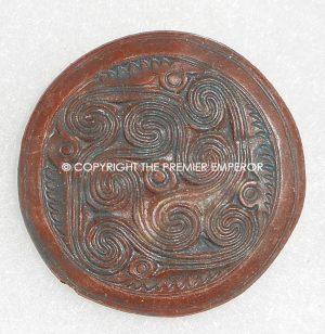 "German Tinnie/Day badge. ""Mykene/Griechenland plastic WHW Runic insignia. Circa.1930's/1940's."