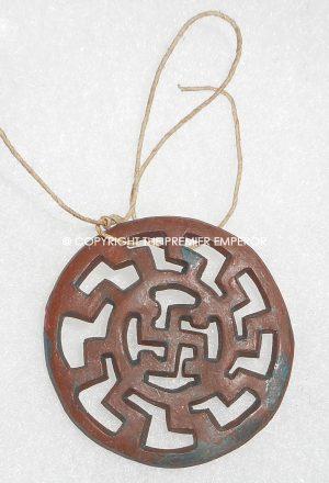 "German Tinnie/Day badge. ""Alamannisch"" plastic WHW Runic insignia. Circa.1930's/1940's."
