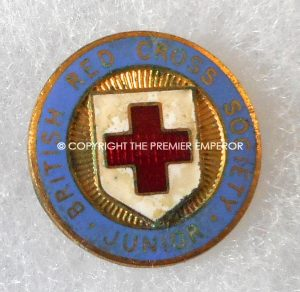 British Red Cross Society Junior members lapel badge. Circa.1940's
