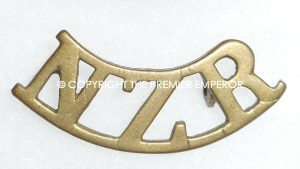 New Zealand Regiment brass shoulder title.Circa.1914/1918