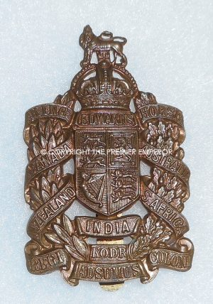 British King Edward's Horse(The Dominions Regiment)Special Reserve Cavalry cap badge.2nd type. Circa.1908-1922