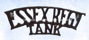 Canada. The Essex Regiment(TANK) Circa.1938-1941 shoulder title.