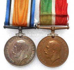 British Mercantile Marine & British War medal pair 1914/1918