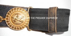 France. Artillery Officers dress belt and buckle.Circa.1900