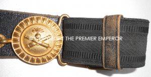 France. Artillery Officers dress belt and buckle.Circa.1900