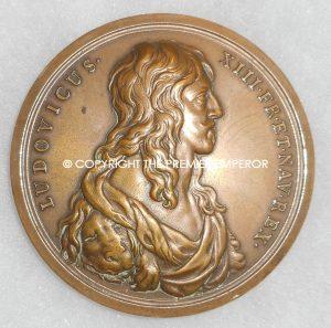 """France. Louis XIII """"Dauphin Birth Zodiac"""" medal.Circa.1940's Paris"""