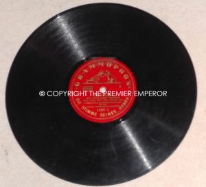 "German Third Reich period shellac record ""Matrosenlied & Es geht um's Vaterland "" on the Grammophon label. Circa.1930's/40's."