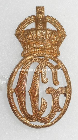 British Her Majesty's Coast Guard metal cap insignia.(King's crown)