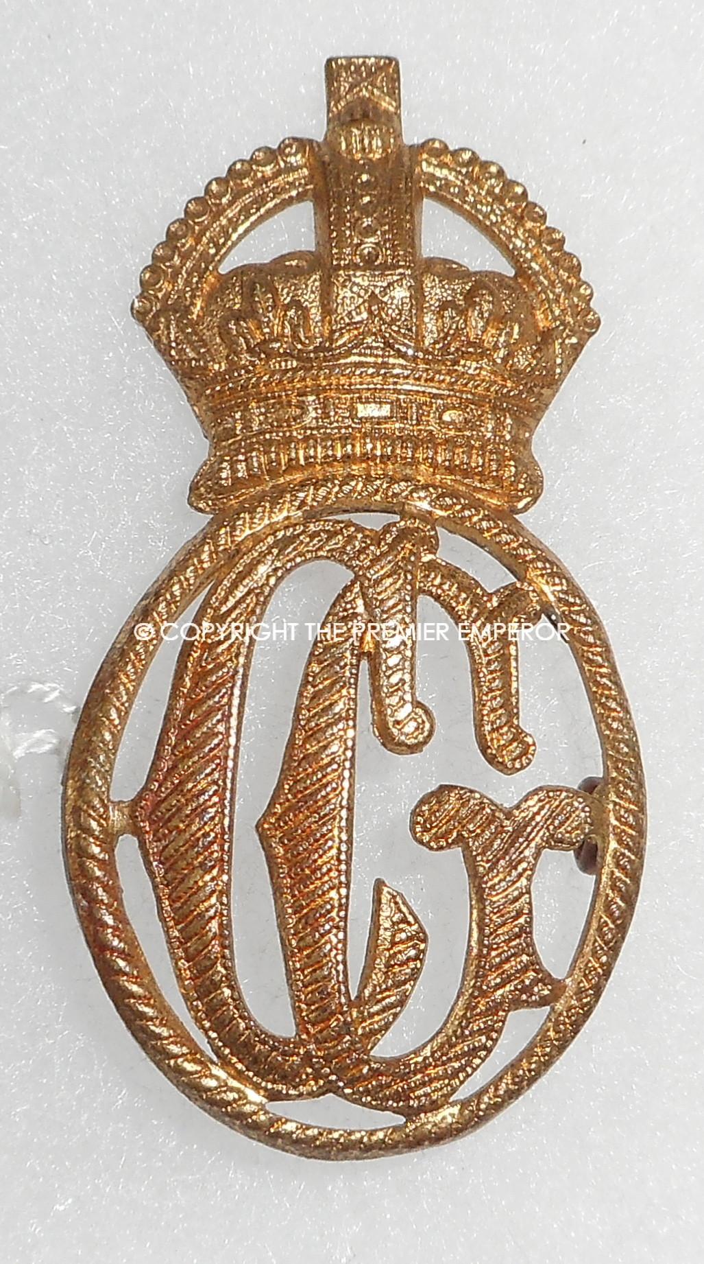 British Her Majesty S Coast Guard Metal Cap Insignia King