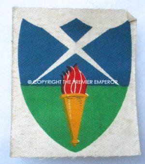 British Aldershot District printed formation sign.