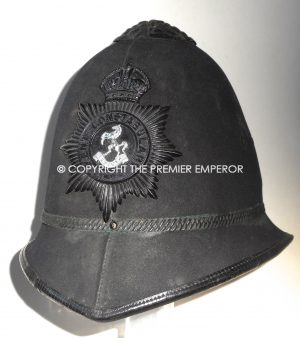 British Kent Constabulary Police Officer's Custodian helmet.Circa. 1930's/40′.
