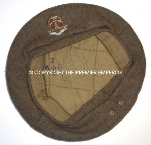 British General Service cap/beret to the Middlesex Regiment.Circa.1945