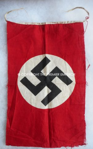 German N.S.D.A.P. Pennant /small flag from Paris.Circa.1940-44