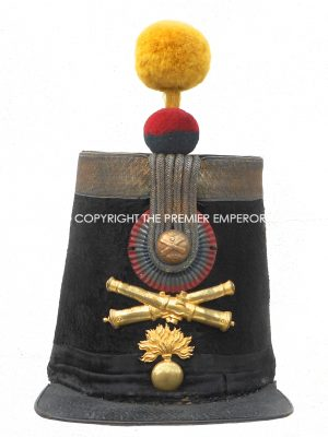 France. Artillery Officer's shako 5th Regiment d'Artillerie.Modele 1843