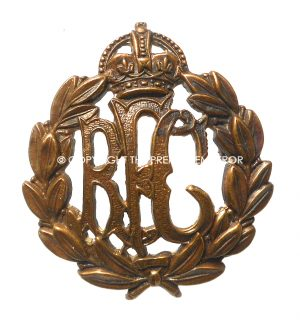 British Royal Flying Corps cap badge.Circa.1916/18