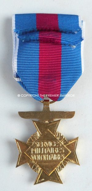 France. Scarce World War Two Airforce Croix Services Militaires Volontaires cross 1st.