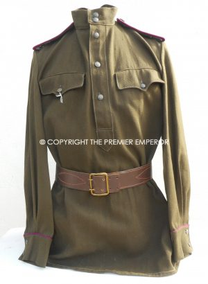 Russia. Soviet Infantry Lieutenants Tunic, trousers, side-cap and boots. Circa.1943. World War Two.