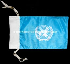 British United Nations vehicle pennant. Circa.1980's/90's
