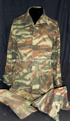 France. Algerian War 1954-1962 French Army Camouflage tunic and trousers.(1948 Dated)