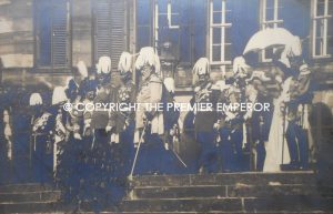 German. Original photograph of Kaiser Wilhelm II with King Edward VII and other Kings & Emperors of Europe. Circa.1902