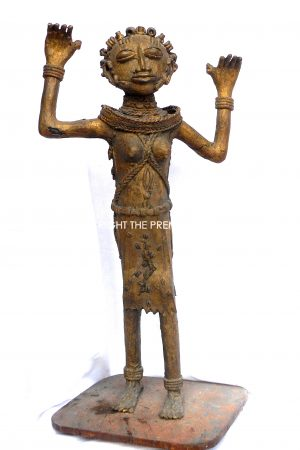 Benin Bronze figures. Male & Female Slaves. (IMPORTANT;- Collection only on this item)