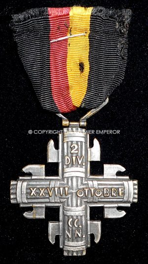 A Scarce Italian M.V.S.N. Cross for Blackshirts CCNN. Division 2. La Ferrea. Circa.1930's