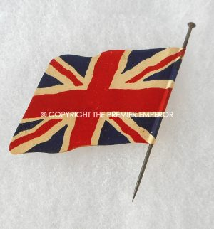 British Union of Fascist Union Jack pin badge in card.Circa.1930's