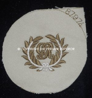"British Royal Marines"" King's badge"" for Tropical dress.Circa.1939/45 (Woven)"