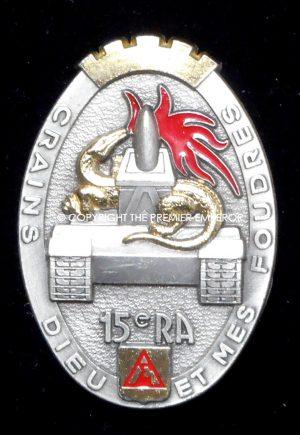 France: 15th Regiment D'Artillerie. Maker:Delsart.