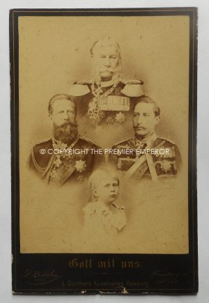 German. Original photograph of the Kaiser & the Wilhelms.Circa.1885
