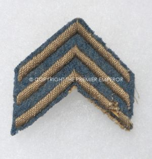 France. Great War service stripes/chevrons for the Horizon blue tunic. Circa.1915