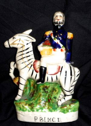 "British: Staffordshire pottery Crimean War porcelain figure""Prince"" ( Early Copy)."
