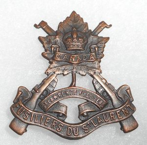 Canada: Le Regiment du St.Laurent cap badge.Circa.1924