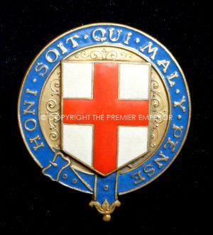 British: Order of the Garter (GeorgeV) headdress insignia. Circa.1911 (Scarce)