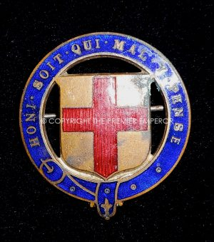 British: Order of the Garter (Edward VII) headdress insignia. Circa.1902-1910 (Scarce)