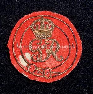 British: Order of the Garter (George VI) bullion wire headdress insignia. Circa.1937-52(Scarce)