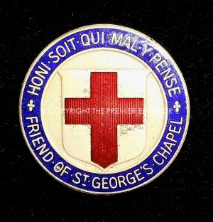 British: Order of the Garter. Friend of St.Georges Chapel. Circa.1950's (Large badge)