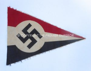 """German: Very Scarce N.S.D.F.B. Nationalsozialistischer Deutscher Frontkämpferbund """"Stahlhelm"""" early pennant.Circa. Late 1920's early 1930's"""