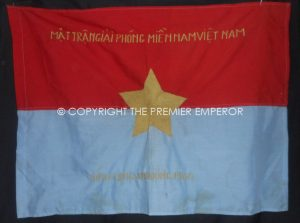 North Vietnam: Vietnam War small flag/banner.Circa.1968