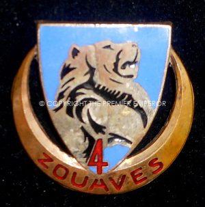 France: 4° Régiment de Zouaves,insignia.Circa.1940's