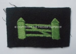 British: British Troops in Northern Ireland woven formation sign, 2nd Type 1943.